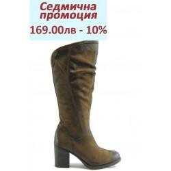 Дамски ботуши на ток естествена кожа ИО 1423к