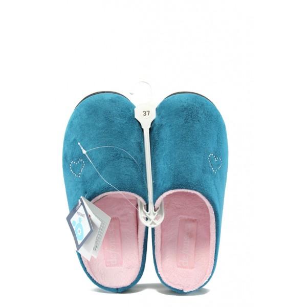 Дамски анатомични домашни чехли ДФ PADRONA сини