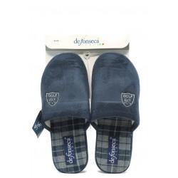 Мъжки анатомични домашни чехли ДФ BICCHIERE сини
