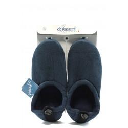 Мъжки анатомични домашни пантофи ДФ BRIGANTE т.сини