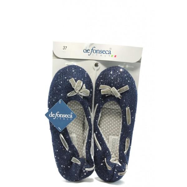 Дамски анатомични домашни пантофи ДФ SEDOTTA сини