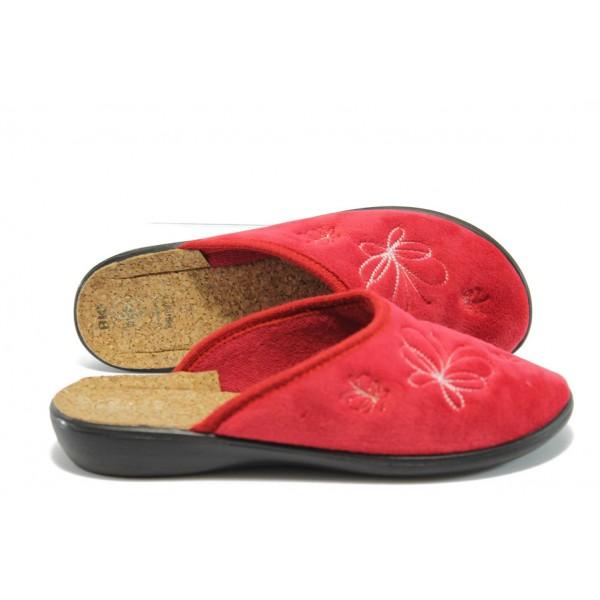 Анатомични домашни чехли МА 18616 червен