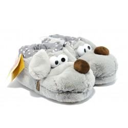 Анатомични домашни пантофи ДФ CANTOPO сиво куче