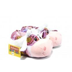 Анатомични детски пантофи ДФ TOPPA розова крава