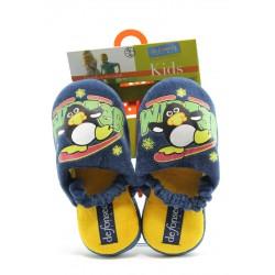 Детски пантофки с ластик ДФ SINTESI син