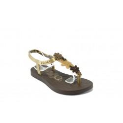 Детски бразилски сандали Rider 80768 кафяво-златно