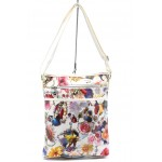 Дамска чанта СБ 1022 бяла на цветя