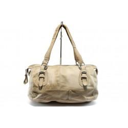 Дамска чанта от естествена кожа ИО 32 бежова