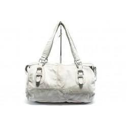 Дамска чанта от естествена кожа ИО 32 бяла