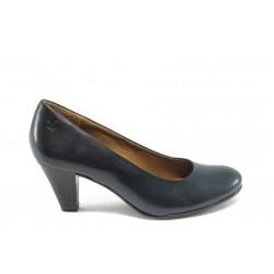 Немски дамски обувки на висок ток Caprice 9-22404-23 сини ANTISHOKK