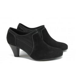 Немски дамски обувки на висок ток Caprice 9-24401-23 черни ANTISHOKK