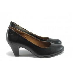 Немски дамски обувки на висок ток Caprice 9-22404-23 черни ANTISHOKK