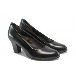 Немски дамски обувки на висок ток Jana 8-22405-23 черни ANTISHOKK