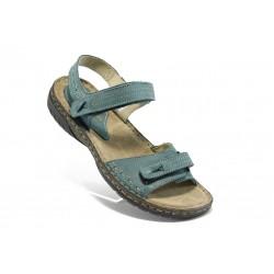 Български анатомични сандали от естествена кожа ГР 9012 сини