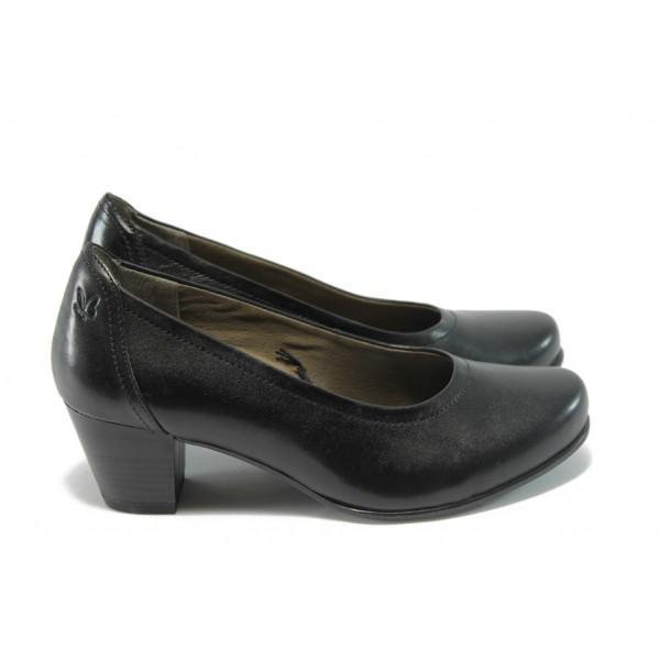Дамски обувки на среден ток Caprice 9-22304-23 черни ANTISHOKK