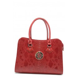 Елегантна дамска чанта СБ 1124 червена анаконда