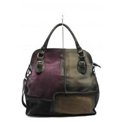Дамска чанта от естествена кожа ИО 12 черна