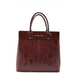 Стилна дамска чанта СБ 1122 бордо анаконда