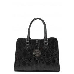 Елегантна дамска чанта СБ 1124 черна анаконда