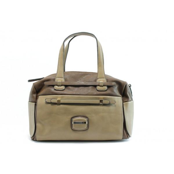 Дамска чанта ЕА 43271-3кафе и беж