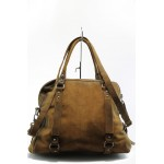 Дамска чанта от естествена кожа ИО 19 коняк