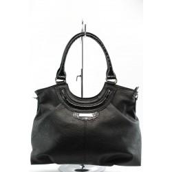 Дамска чанта СБ 1019 черна с лак