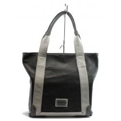Дамска чанта СБ 1030 ч.сива