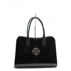 Елегантна дамска чанта СБ 1124 черен лак