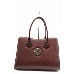 Елегантна дамска чанта СБ 1124 бордо