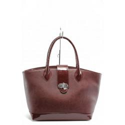 Елегантна дамска чанта СБ 1109 бордо