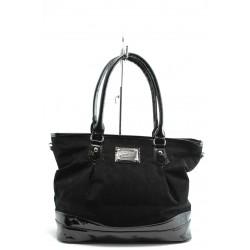 Дамска чанта СБ 1090 черен велур