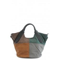 Дамска цветна чанта ФР 8011 черна