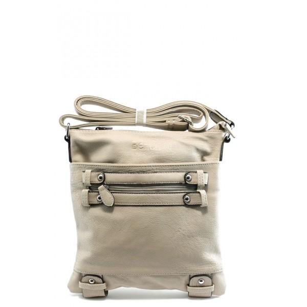 Дамска малка чанта ФР 99024 бежова