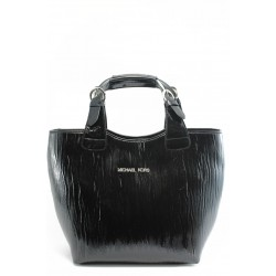 Стилна дамска чанта СБ 1130 черна лиана