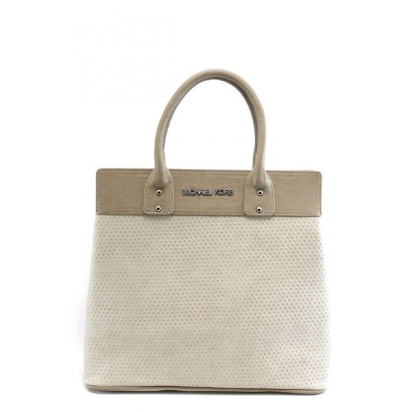 Стилна дамска чанта СБ 1122 бежова с точки