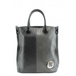 Дамска чанта в съчетание от два цвята СБ 1100 черно-сива