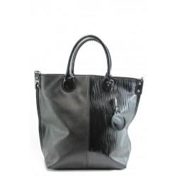 Дамска чанта черна кожа с лиана СБ 1129 черна лиана