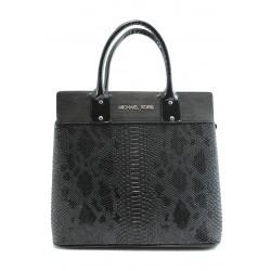 Стилна дамска чанта СБ 1122 черна анаконда