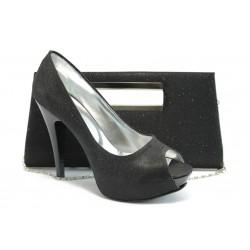 Комплект обувки и чанта МИ 1701-3 черно