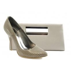 Комплект обувки и чанта ЕО 25002-5 бежов