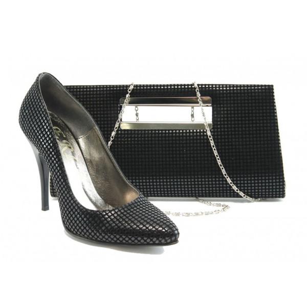 Комплект обувки и чанта ЕО 25002-5 черен