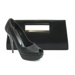 Комплект обувки и чанта ДС 3390-5 черен
