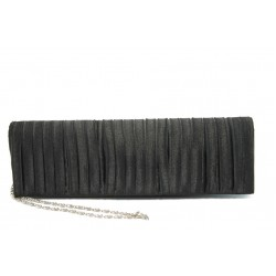 Елегантна сатенена дамска чанта ФР КОКО черна