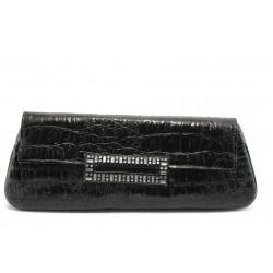 Елегантно дамско портмоне ФР 14 черен лак