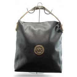 Дамска чанта СБ 1070 черно-бежова МК