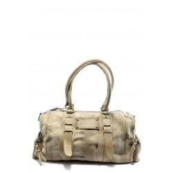Дамска чанта от естествена кожа ИО 5 бежова