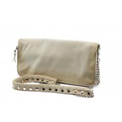 Дамска чанта от естествена кожа ИО 30 бежова