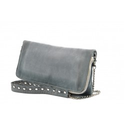 Дамска чанта от естествена кожа ИО 30 синя