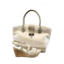 Комплект обувки и чанта СБ 1109 + МИ 702 платформа
