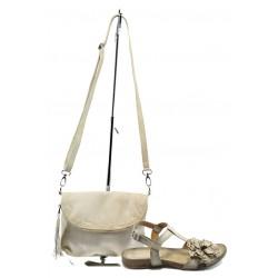 Комплект обувки и чанта ИО 28 + ИО 1392 бежово цвете